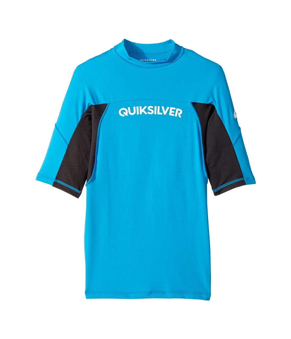 Quiksilver Kids Performer Short Sleeve Shirt (Big Kids) (Blue Danube/Tarmac) Boy
