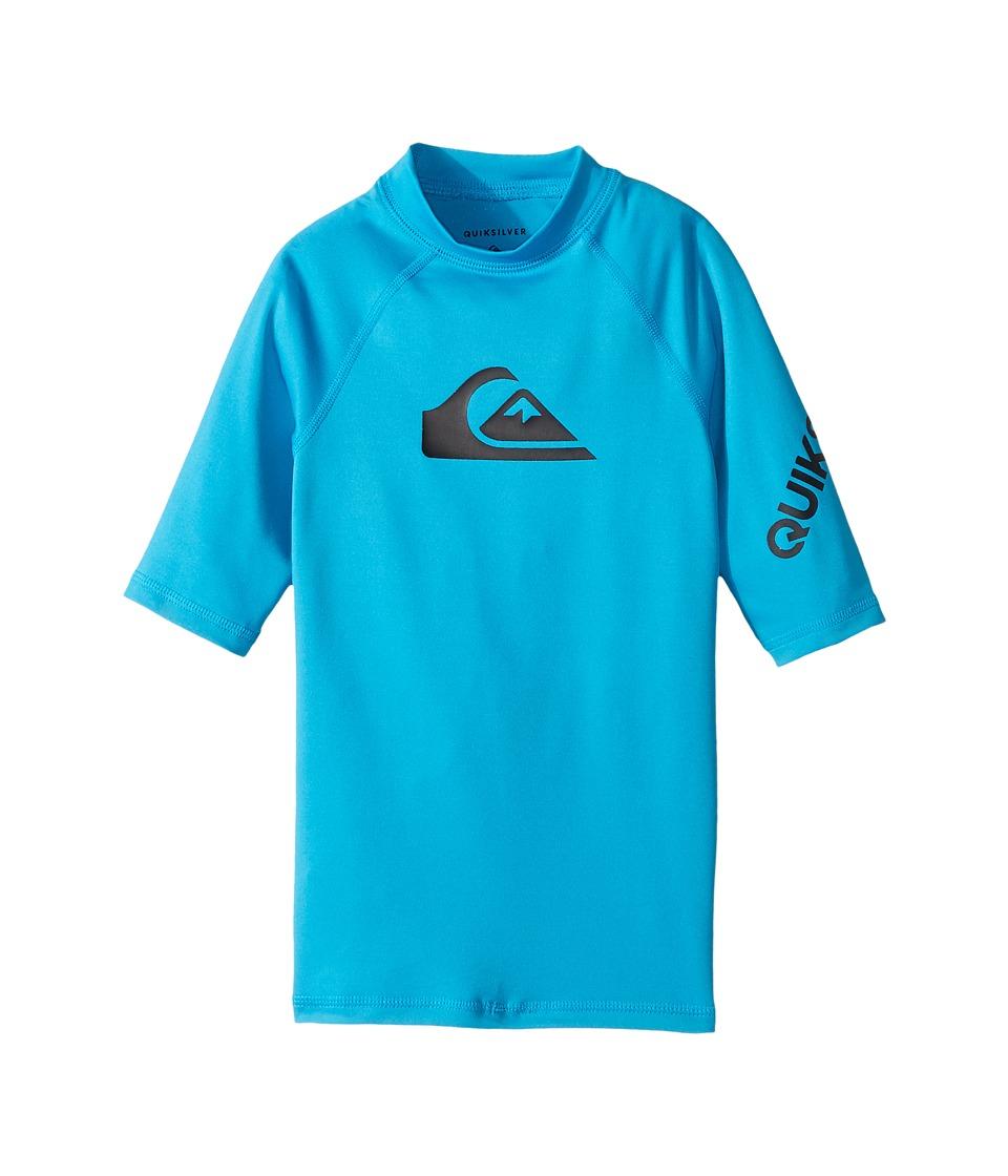 Quiksilver Kids All Time Short Sleeve Shirt (Big Kids) (Blue Danube) Boy