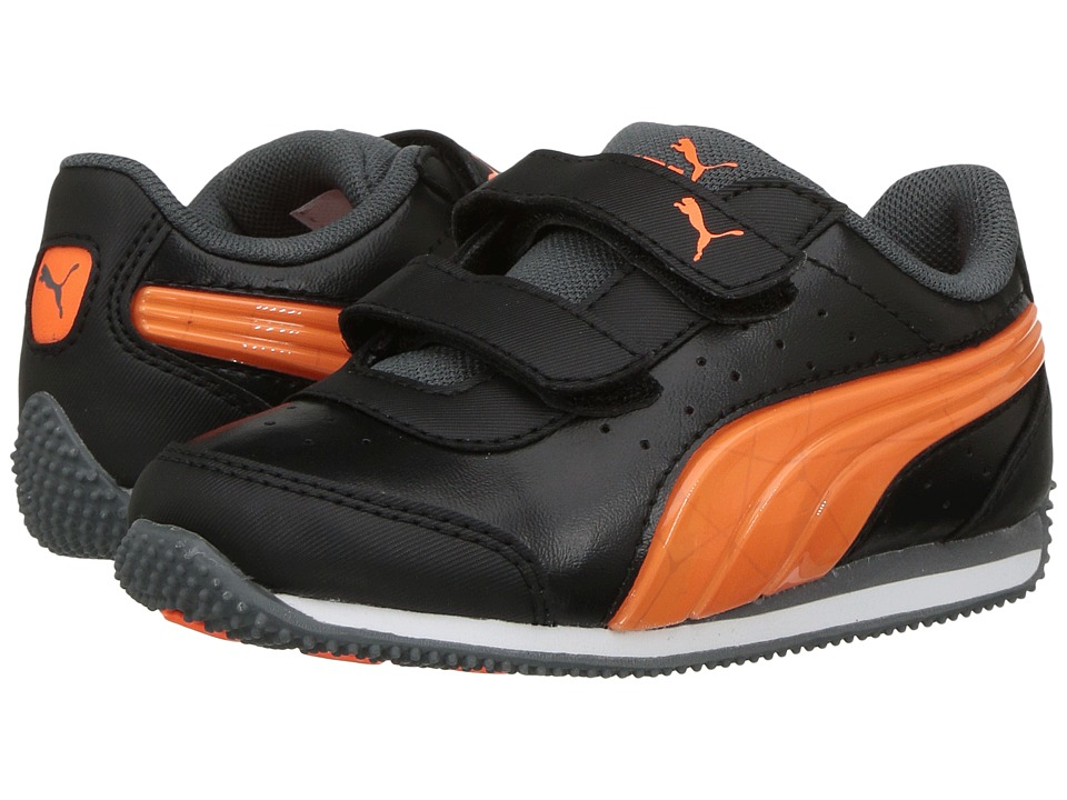 Puma Kids - Speed Light Up Power V (Little Kid/Big Kid) (Puma Black/Shocking Orange) Boys Shoes