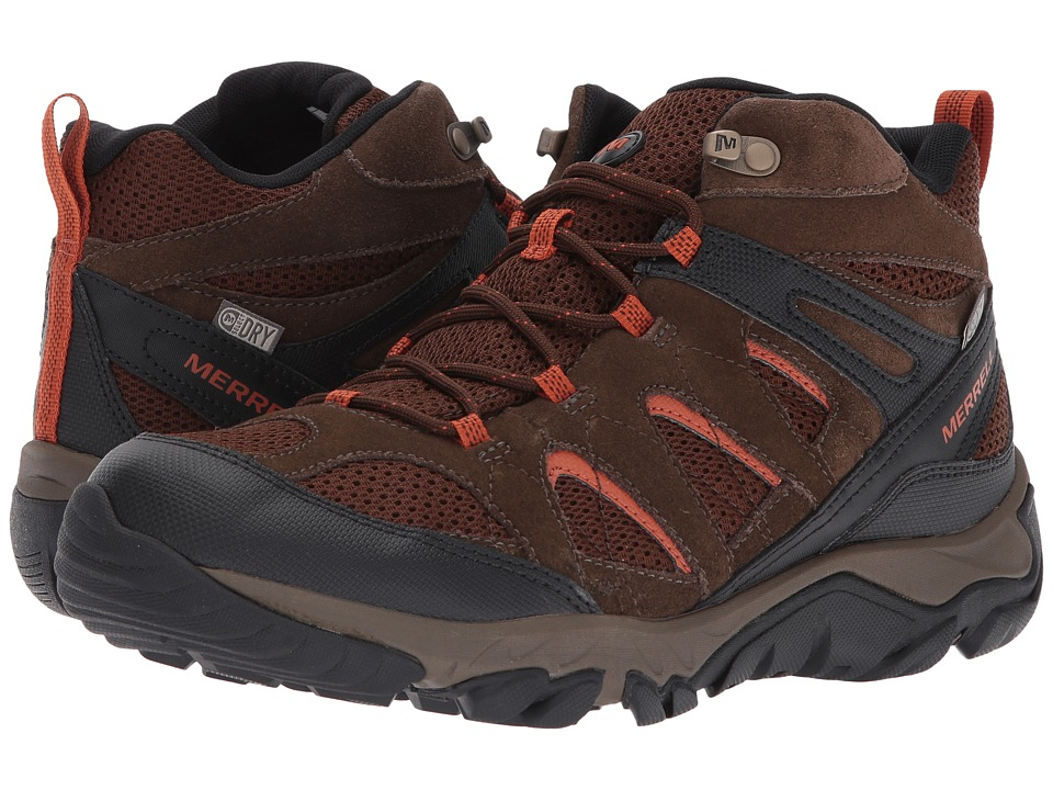 Merrell - Outmost Mid Vent Waterproof (Slate Black) Mens Shoes
