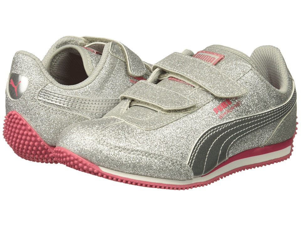 Puma Kids Whirlwind Glitz V (Little Kid/Big Kid) (Puma Silver/Puma Silver) Girls Shoes