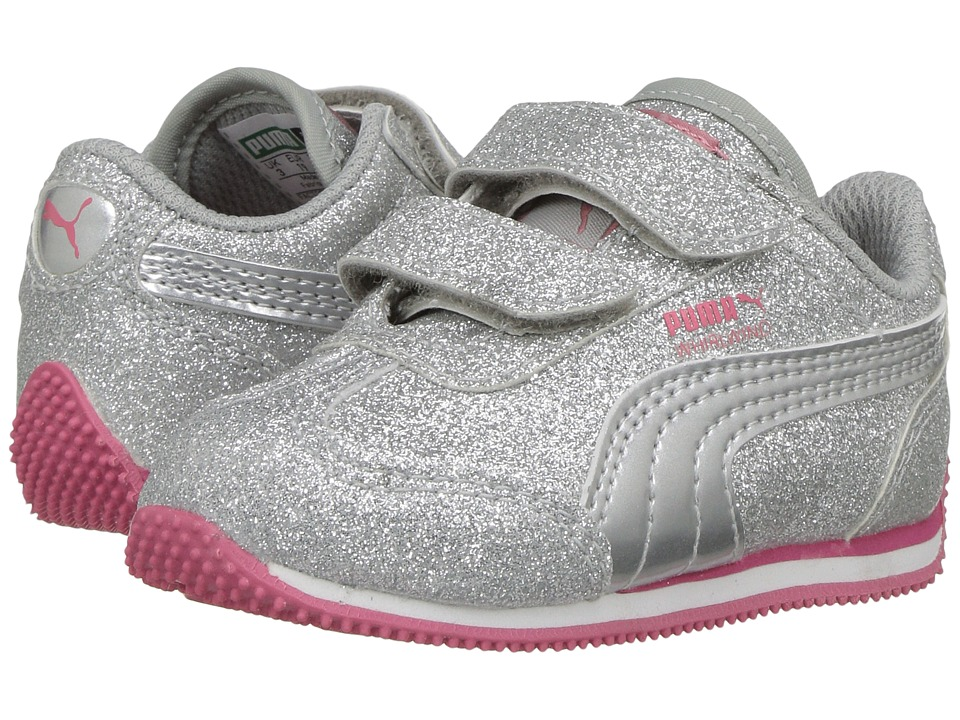 Puma Kids Whirlwind Glitz V (Toddler) (Puma Silver/Puma Silver) Girls Shoes
