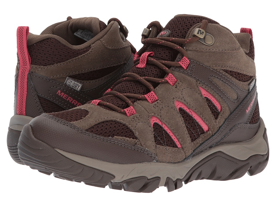 Merrell - Outmost Mid Vent Waterproof (Canteen) Womens Shoes