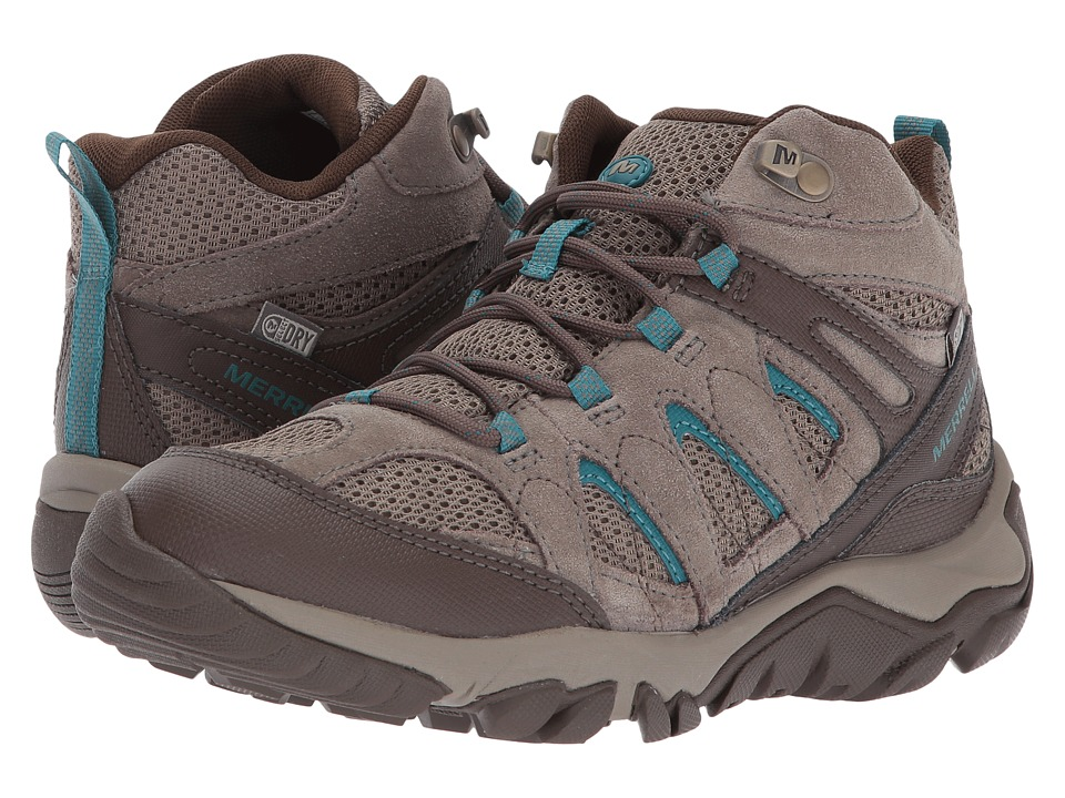 Merrell Outmost Mid Vent Waterproof (Boulder) Women's Shoes