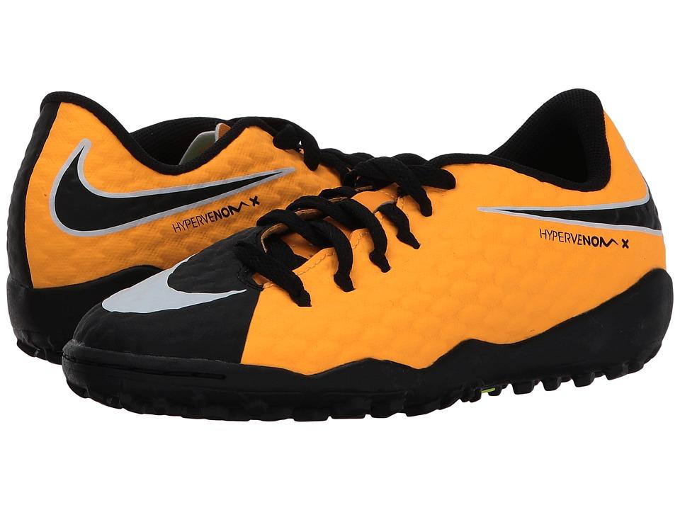 Nike Kids Hypervenom Phinish II AF Soccer (Little Kid/Big Kid) (Laser Orange/Black/Black/Volt) Kids Shoes