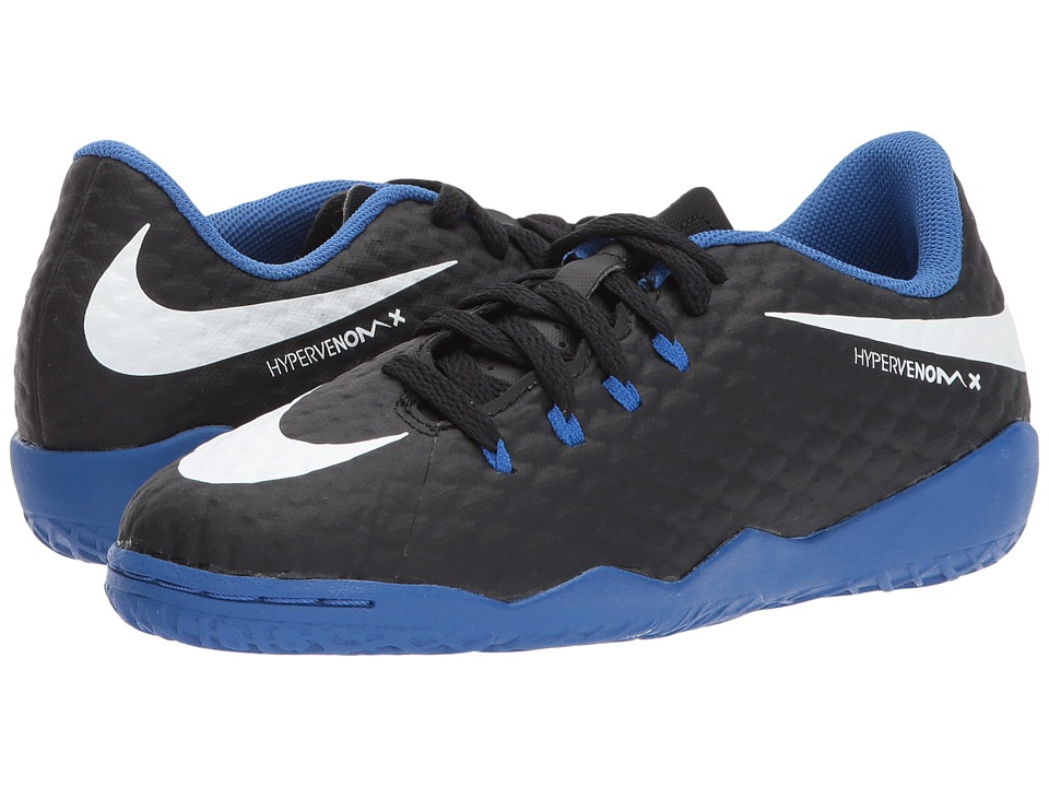 Nike Kids Hypervenom Phinish II IC Soccer (Little Kid/Big Kid) (Black/White/Dark Grey) Kids Shoes