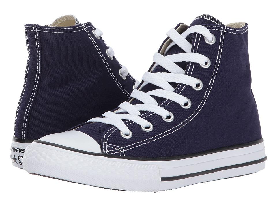 Converse Kids Chuck Taylor All Star Hi (Little Kid) (Midnight Indigo) Kids Shoes