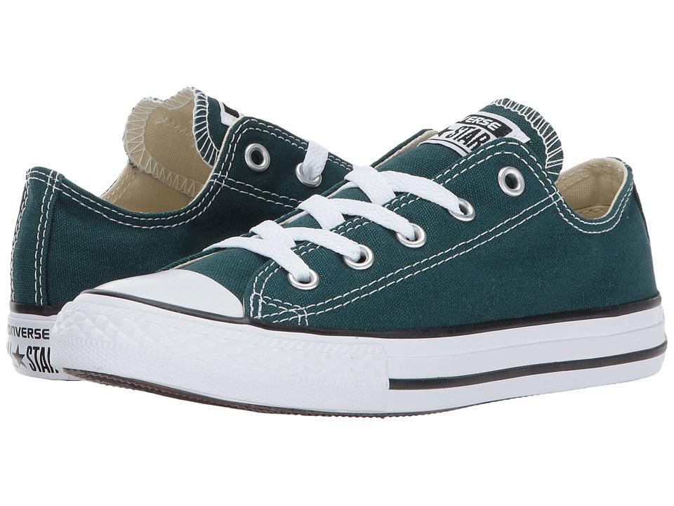 Converse Kids Chuck Taylor All Star Ox (Little Kid) (Dark Atomic Teal) Kids Shoes