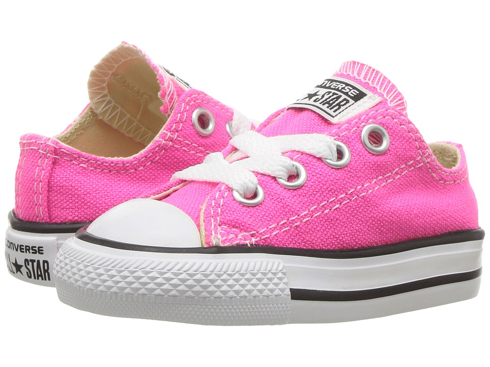 Converse Kids Chuck Taylor All Star Seasonal Ox (Infant/Toddler) (Pink Pow) Kid
