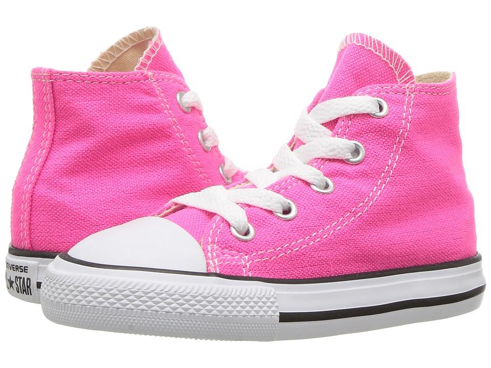 Converse Kids Chuck Taylor All Star Seasonal Hi (Infant/Toddler) (Pink Pow) Girl
