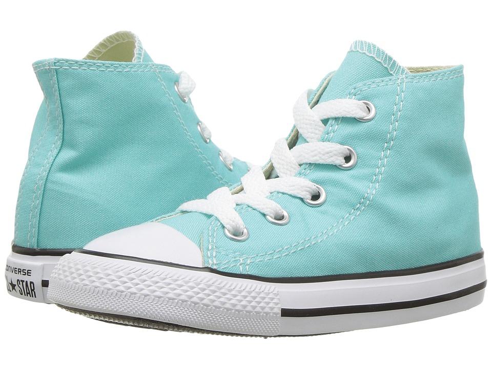Converse Kids Chuck Taylor(r) All Star(r) Seasonal Hi (Infant/Toddler) (Light Aqua) Girl