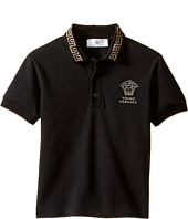Versace Kids - Short Sleeve Polo w/ Greca Collar & Medusa Logo Detail (Toddler/Little Kids)