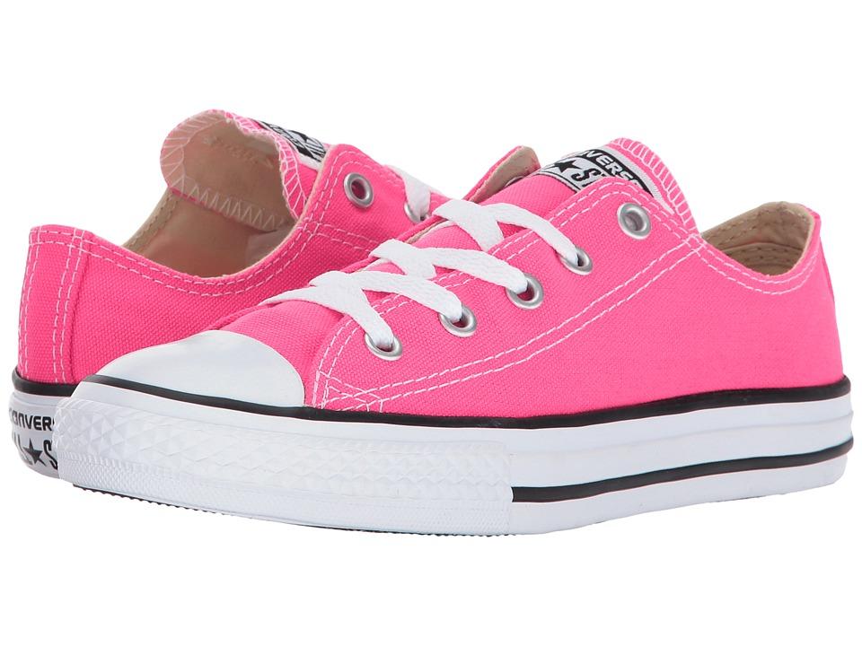 Converse Kids - Chuck Taylor All Star Ox (Little Kid) (Pink Pow) Girls Shoes