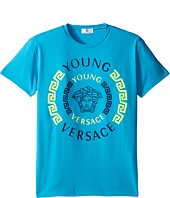 Versace Kids - Short Sleeve Contract Medusa Logo T-Shirt (Big Kids)