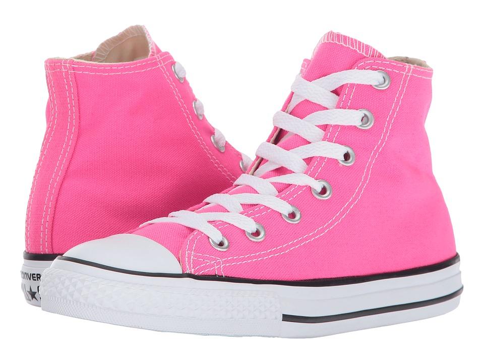 Converse Kids Chuck Taylor All Star Hi (Little Kid) (Pink Pow) Girl
