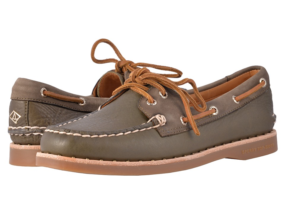 Sperry Gold Cup A/O Studded Welt (Dark Olive) Women