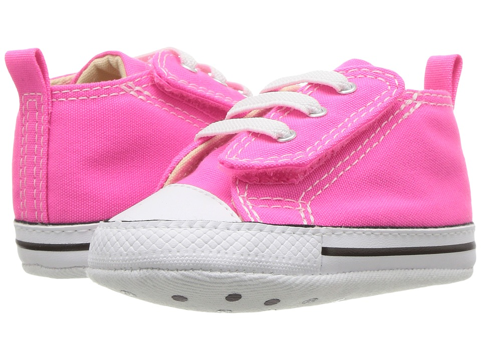 Converse Kids Chuck Taylor First Star Easy Slip Hi (Infant/Toddler) (Pink Pow) Girl's Shoes