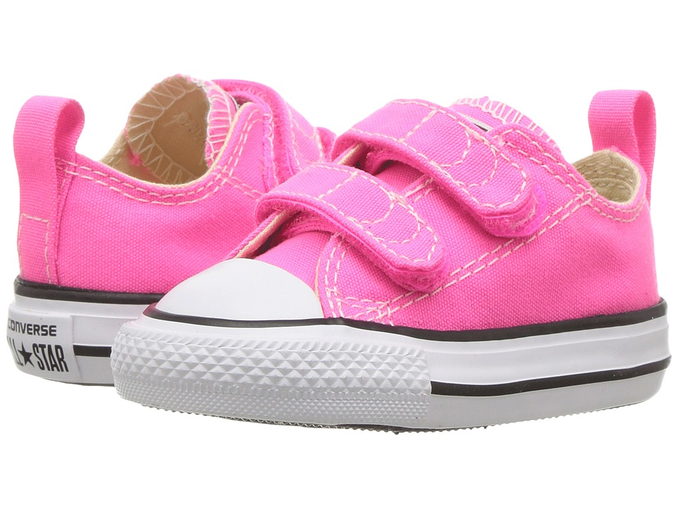 Converse Kids Chuck Taylor All Star 2V Ox (Infant/Toddler) (Pink Pow/Natural/White) Girl