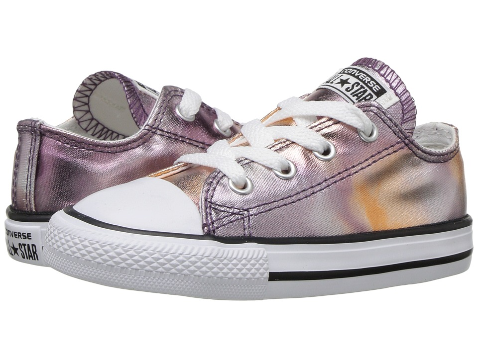 Converse Kids Chuck Taylor All Star Ox Metallic (Infant/Toddler) (Dust Pink/White/Black) Girl