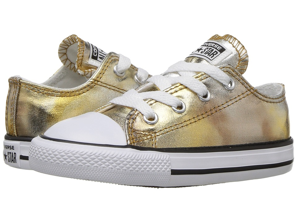 Converse Kids Chuck Taylor All Star Ox Metallic (Infant/Toddler) (Silver/Gold/White/Black) Girl