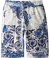 Versace Kids - All Over Barocco Print Sweatshorts (Big Kids)