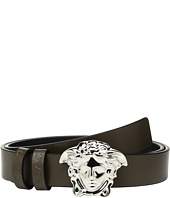 Versace Kids - Leather Belt with Medusa Buckle (Big Kids)