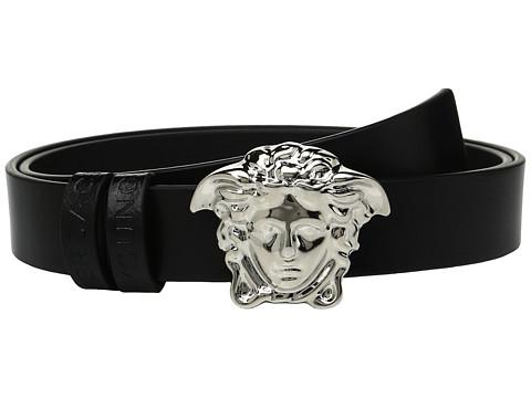 Versace Kids Leather Belt with Medusa Buckle (Big Kids)
