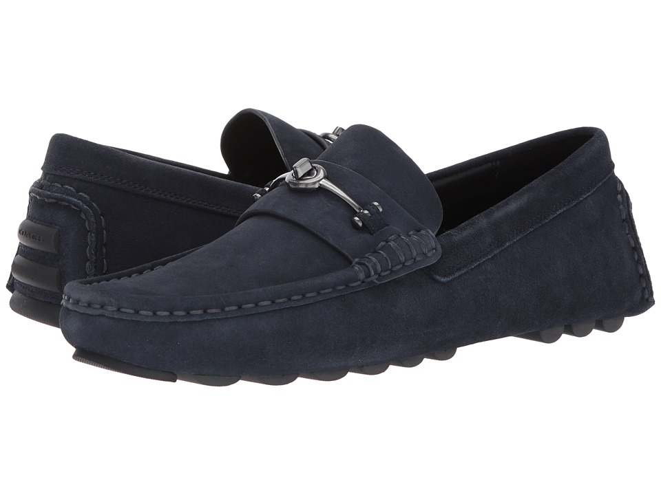 COACH - Crosby Turnlock Driver Suede (Midnight Navy) Mens Shoes