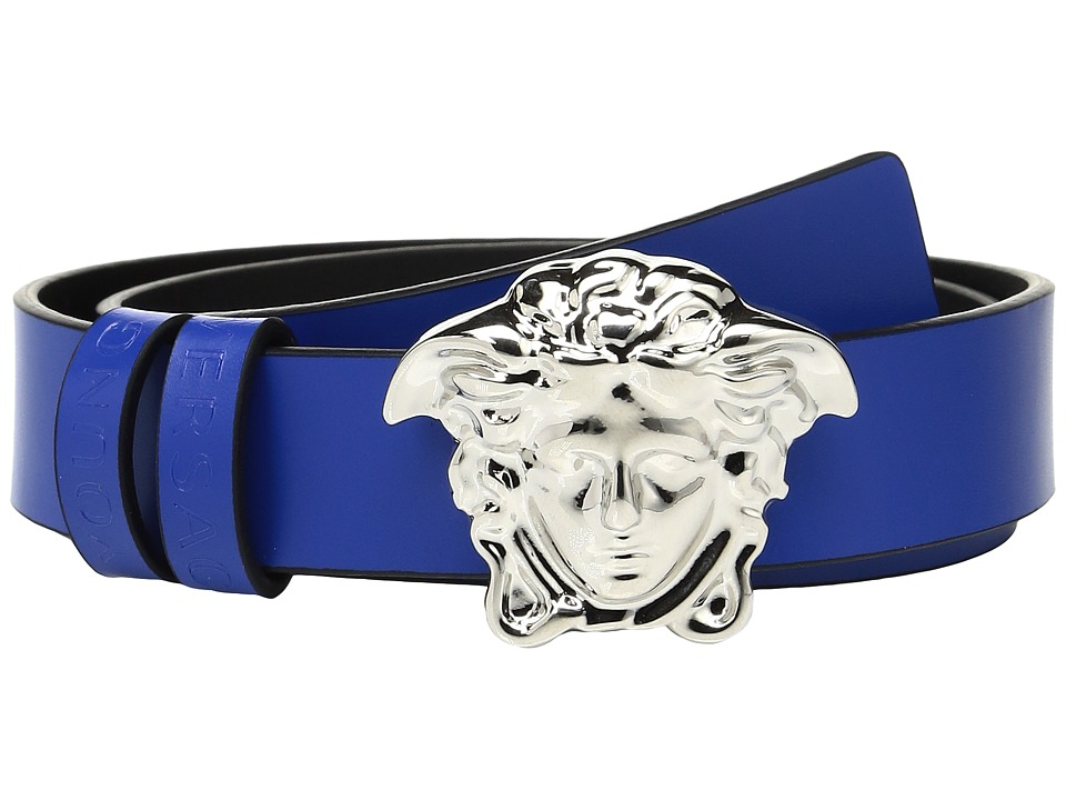 Versace Kids - Leather Belt with Medusa Buckle
