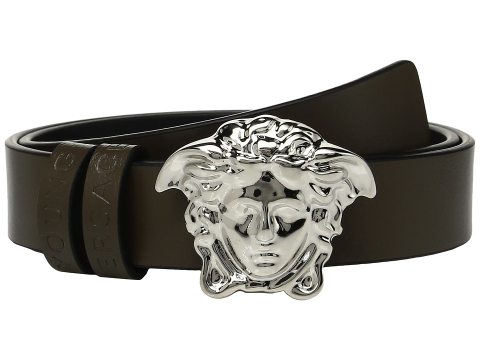 Versace Kids - Leather Belt with Medusa Buckle