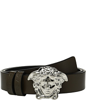 Versace Kids - Leather Belt with Medusa Buckle (Toddler/Little Kids)