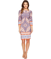 London Times - I Heart Paisley 3/4 Sleeve Shift Dress