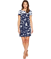 London Times - Bedrock Blossom Short Sleeve Shif Dress