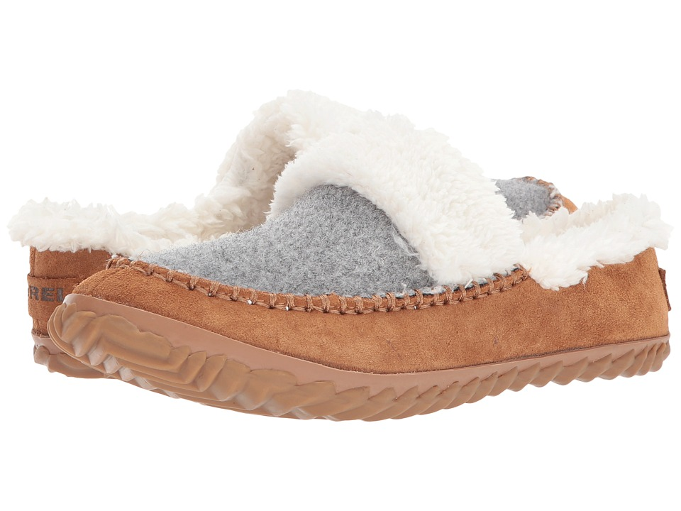 SOREL - Out N About Slide (Light Grey/ Elk) Womens Shoes