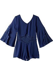 Ella Moss Girl - Cathy Chiffon with Crochet Romper (Big Kids)
