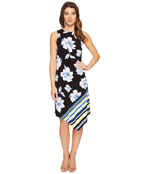 London Times Flower Stripe Handkerchief Dress