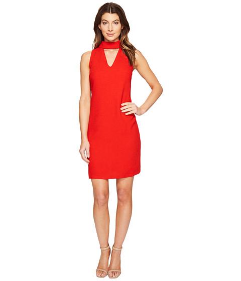 London Times Sleeveless Shift w/ V-Neck Dress