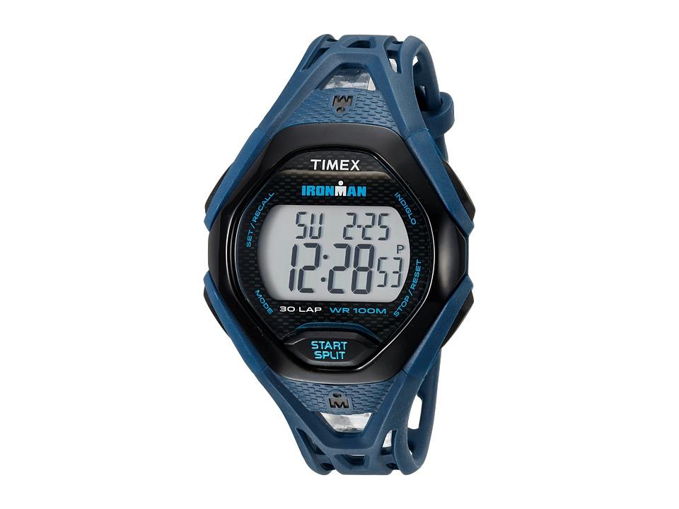 Timex Ironman Sleek 30 Full-Size Resin Strap (Blue/Black)...