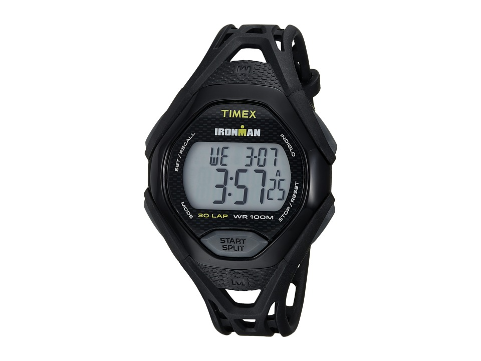 Timex Ironman Sleek 30 Full-Size Resin Strap (Black) Watches