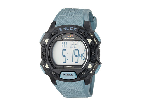 Timex Expedition Base Shock Resin Strap - Blue/Black