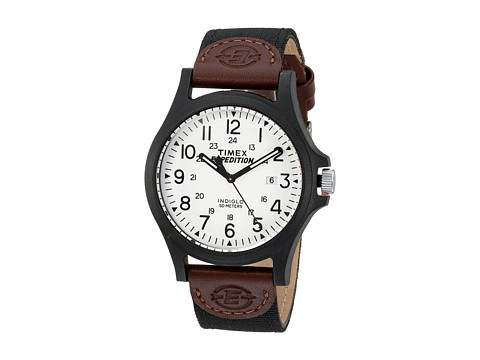 Timex Expedition Acadia Mixed Materials Strap - Brown/Black/White