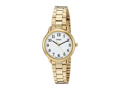 Timex Easy Reader Stainless Steel Bracelet - Gold Tone/White