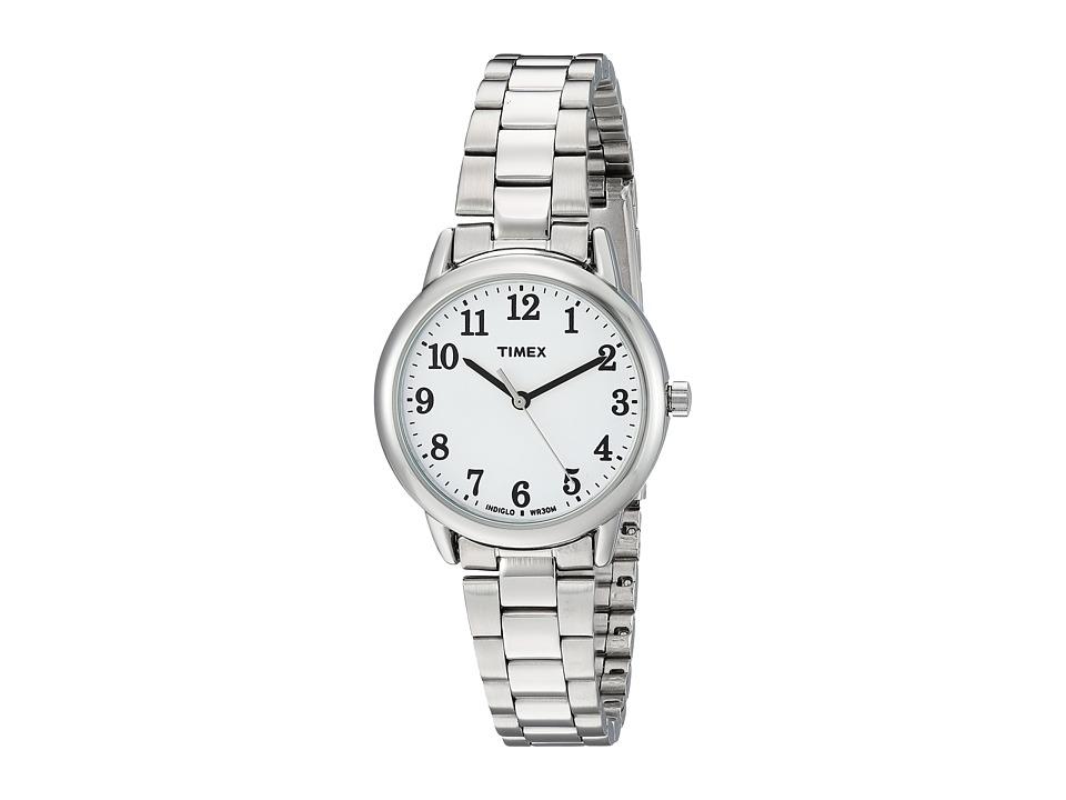 Timex Easy Reader Stainless Steel Bracelet (Silver Tone/W...