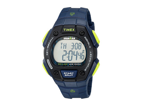 Timex Ironman Classic 30 Full-Size Resin Strap - Blue/Lime/Black