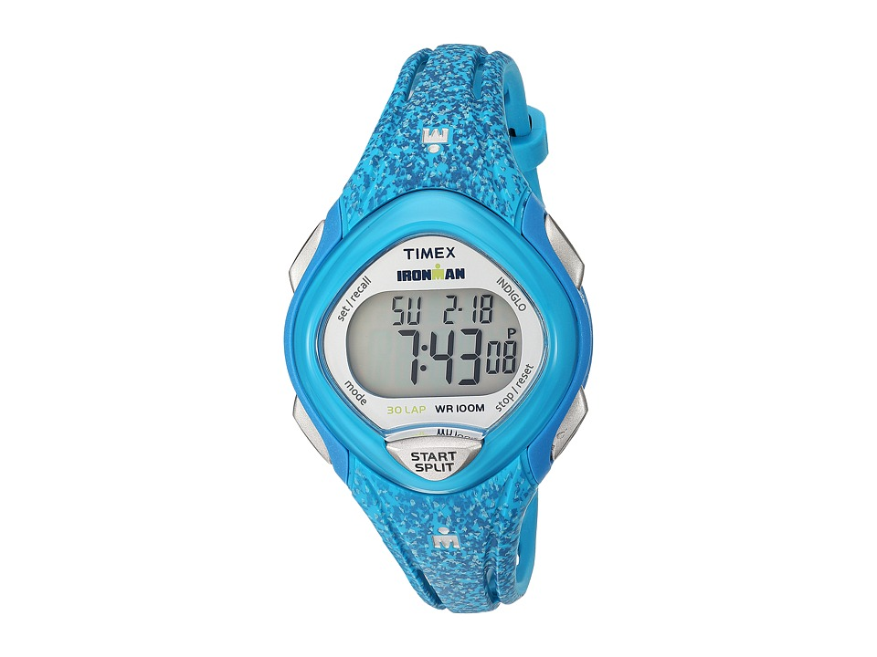 Timex Ironman Sleek 30 Mid-Size Resin Strap (Blue) Watches