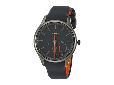 Timex IQ+ Move Silicone Strap - Black/Orange