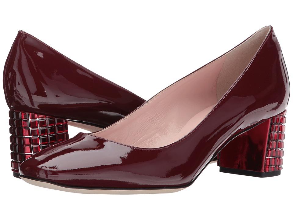 Kate Spade New York Danika Too (Deep Crimson Patent/Dark Red Stones) High Heels