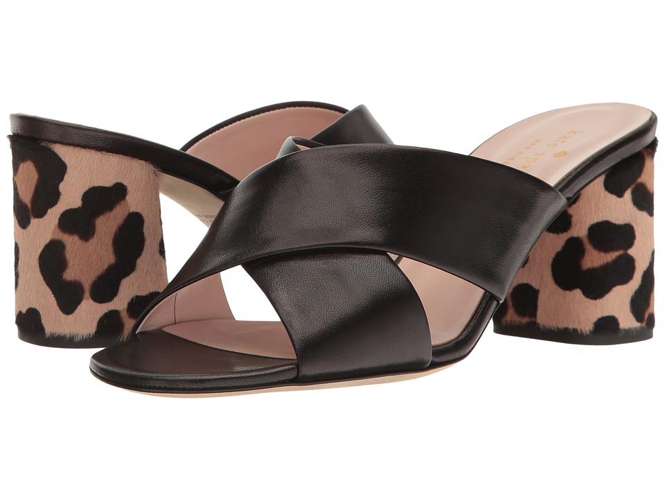 Kate Spade New York Denault (Black Nappa/Blush/Fawn Leopard Haircalf) Women