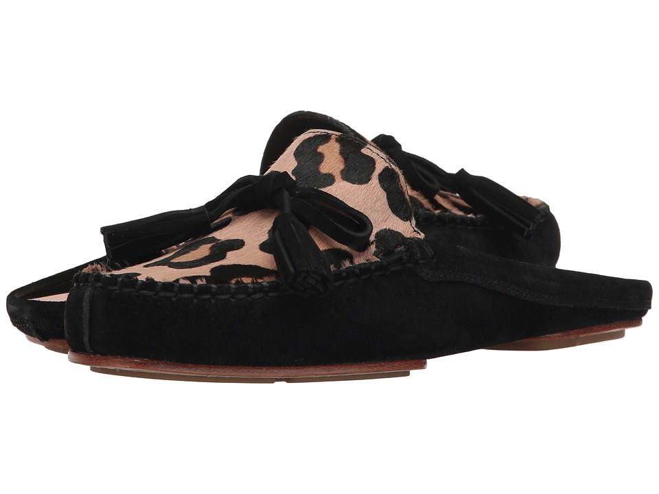 Kate Spade New York Matilda (Blush/Fawn Leopard Haircalf/Black Suede) Women