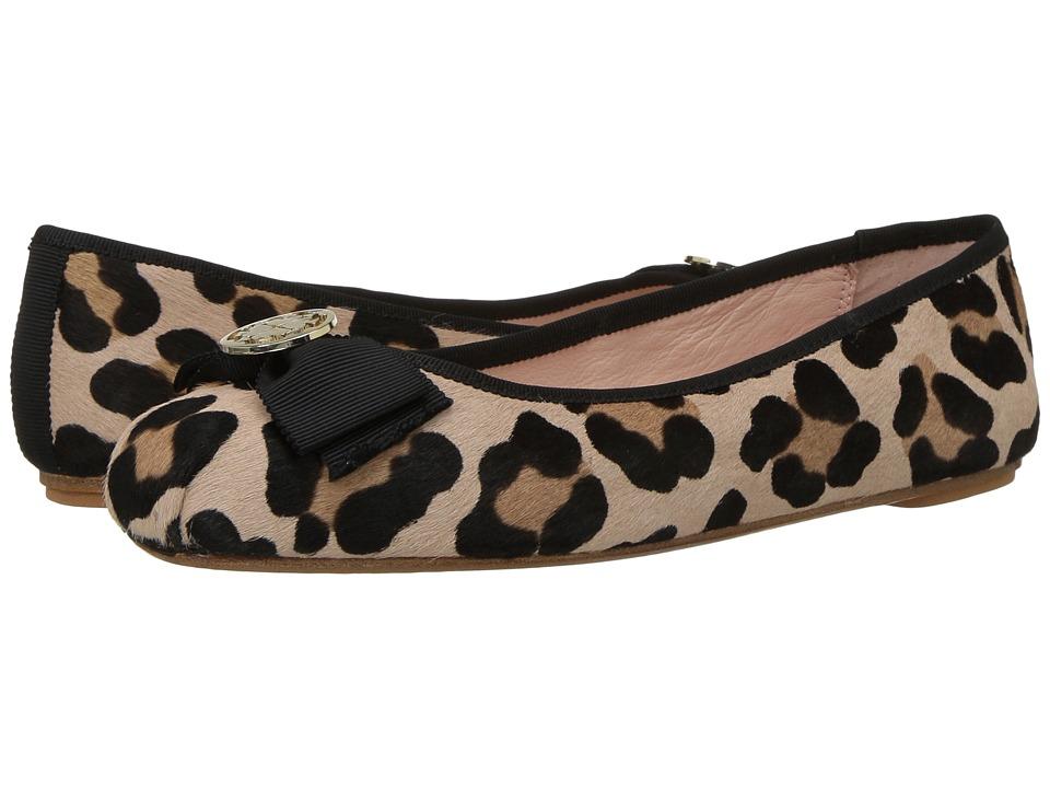 Kate Spade New York Fontana Too (Blush/Fawn Leopard Haircalf/Black Grosgrain) Women